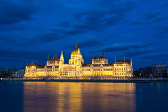 Byggnad av parlamentet i Budapest, Ungern Arkivfoton