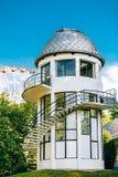 Byggnad av planetariet i Minsk, Vitryssland Royaltyfri Bild