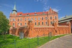 Byggnad av seminariet av ärkestiftet av Cracow, Krakow, Polen royaltyfri bild