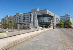 Byggnad av SEX Swiss Exchange i Zurich, Schweiz Fotografering för Bildbyråer