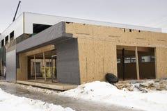 Byggnad av shoppar under konstruktion Fotografering för Bildbyråer