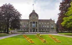 Byggnad av slotten av Rhen i Strasbourg, Frankrike Royaltyfri Bild