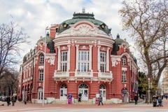 Byggnad av teatern i Varna Fotografering för Bildbyråer