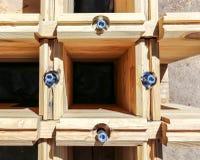 Byggnad av trähuset royaltyfria foton