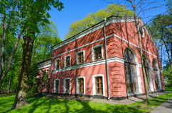 Byggnad av wintergardenen & x28; Den Gomel slotten och parkerar Ensemble& x29; , Gome arkivbilder