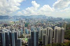 byggnad bostadsHong Kong Arkivbilder
