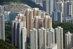 byggnad bostadsHong Kong Royaltyfria Foton
