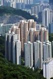 byggnad bostadsHong Kong Royaltyfri Fotografi