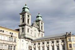 byggnad center historiska linz Royaltyfria Foton