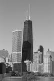 byggnad chicago hancock Arkivfoton