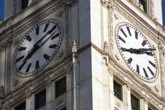 byggnad chicago wrigley Arkivbild