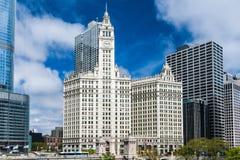 byggnad chicago wrigley Royaltyfri Foto