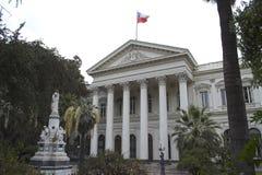 byggnad chile kongress de gamla santiago Arkivfoton