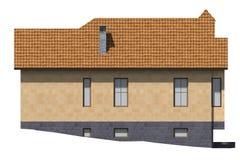 byggnad 3D framför i Armenien fasad Royaltyfri Bild
