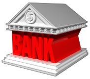 byggnad för bank 3D Arkivbild