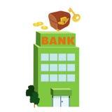 byggnad för bank 3D Arkivfoto