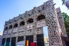 Byggnad för Bur Dubai Souk royaltyfria foton