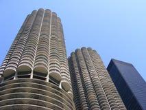 Byggnad för Chicago Illinois havremajskolv Arkivfoton