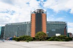Byggnad för europeisk kommission i Bryssel, Belgien Royaltyfri Fotografi