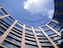 Byggnad för europeisk union Arkivfoto