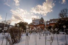 Byggnad för gamlaHokkaido kansli, Sapporo, Japan arkivbilder