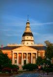 Byggnad för hus för Maryland Kapitoliumtillstånd i Annapolis Arkivfoton