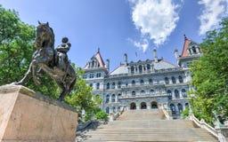 Byggnad för Kapitolium för New York stat, Albany Arkivfoton