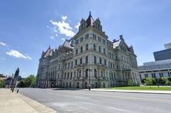 Byggnad för Kapitolium för New York stat, Albany Arkivbilder