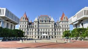 Byggnad för Kapitolium för New York stat, Albany Arkivbild