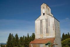 Byggnad för lagring för hiss för lantbruksilokorn jordbruks- Commun Arkivbilder
