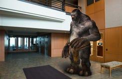 Byggnad för lobbyen för affärskontoret fiska med drag i Arkivbild