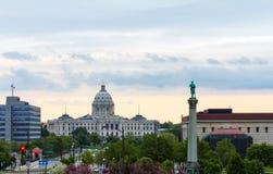 Byggnad för Minnesota statKapitolium Arkivbild