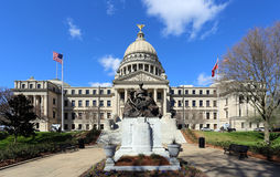 Byggnad för Mississippi statKapitolium Royaltyfria Bilder