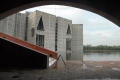 Byggnad för nationell parlament på Dhaka, Bangladesh arkivfoto