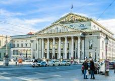 Byggnad för nationell teater i Munich, Tyskland Royaltyfri Foto