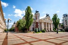 Byggnad för nationell teater i Sofia arkivfoto
