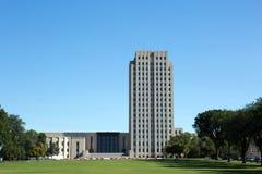Byggnad för North Dakota statKapitolium arkivbilder