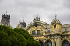 Byggnad för portde Barcelona barcelona catalonia spain Royaltyfri Bild