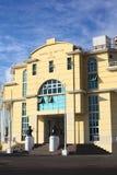 Byggnad för portmyndighet i Iquique, Chile Arkivbild