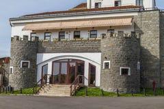 Byggnad för slott för Dracula ` s, en turist- dragning Fotografering för Bildbyråer