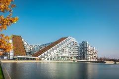 Byggnad för 8 Tallet i Vestamager/Köpenhamn royaltyfri fotografi