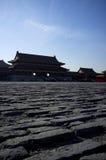 Byggnad för traditionell kines som byggs av tegelsten Fotografering för Bildbyråer