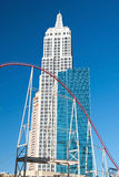 Byggnad för väldetillstånd i nya York-nya York på Las Vegas Stri Arkivfoto