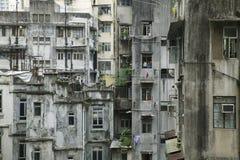 byggnad gammala Hong Kong Arkivbild