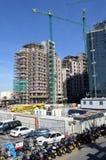 Byggnad Gibraltar sänker 2017 Arkivbild