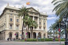 Byggnad Gobierno som är militar i Barcelona, Spanien Arkivbilder
