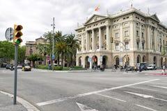 Byggnad Gobierno som är militar i Barcelona, Spanien Arkivfoton