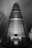 byggnad högväxt shanghai Arkivbilder