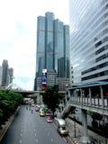 Byggnad i bangkok Thailand Arkivfoton