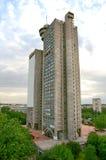 Byggnad i Belgrade - västra port av staden royaltyfri bild